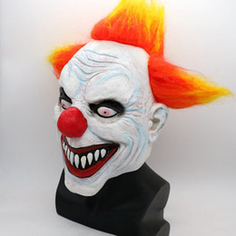 Full Face Clown Mask Australia - Halloween Mask Party Full Face Masks Adult Ghost Mask Killer Clown Scary Creepy Horror Terror Masquerade Cosplay Mischief Mask