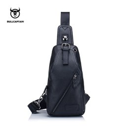f81051abb4 X BULLCAPTAIN 2018 MEN Shoulder BAGS Small Brand casual messenger bags  Fashion GENUINE Leather MALE Crossbody Bag men chest bag088