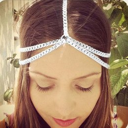 $enCountryForm.capitalKeyWord Australia - New Beach Multi Layer Metal Gold Color Head Chain Hair Jewelry Tassel Pearl Leaves Bindi hair accesories Boho Headband 233