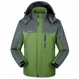 b2fad9b3239 Plus Size 6XL 7XL 8XL 9XL Winter Parkas Men Thick Velvet Jacket Fleece Coat  Warm Waterproof Windproof Windbreaker Raincoat Coats