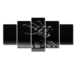 $enCountryForm.capitalKeyWord UK - Wall Art Posters Home Decor Framed Canvas Pictures 5 Panel Ballet Dream Girls Dancing Girls Landscape HD Printed Painting