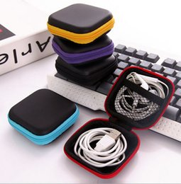 $enCountryForm.capitalKeyWord UK - Zipper Bag Earphone iphone 8 Cable Mini storage box SD Card Portable Coin Purse bluetooth Headphone Bag Carrying Pouch Pocket Case cover