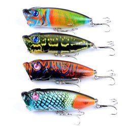 $enCountryForm.capitalKeyWord Australia - 4 Pcs lot High Quality Poper Lure Fishing Lures Poper Hard Plastic Bait Floating Hook Popper Fish Lures Swimbaits Free Shipping