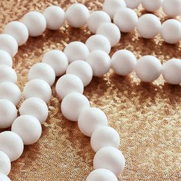 styrofoam crafts 2019 - Newest 10 Pcs 8CM Modelling Polystyrene Styrofoam Foam Ball Spheres DIY Decoration Crafts Party Wedding Ball Decoration