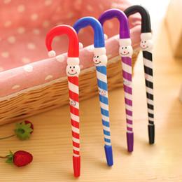 santa pens 2019 - 4 Pcs set Hot Sale Cute Santa Claus umbrella Ballpoint Pen Kawaii 0.5mm Blue Stationery Pen For Kids Office School Suppl