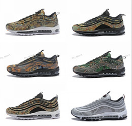 sneaker shoes uk 2018 - 2018 New 97 Country Camo Japan Italy UK Army Green Running Shoes Men 97s Camouflage Ultra Bullet 3M Premium Zoom Trainer