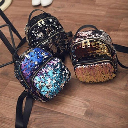 kids korean backpacks Canada - Kids Girls Backpacks 2018 Newest Korean Style Fashion Baby Girls Cute Cool Shiny Personalized Sequin Bags Kids Travel Shoulders Bag 3Colors