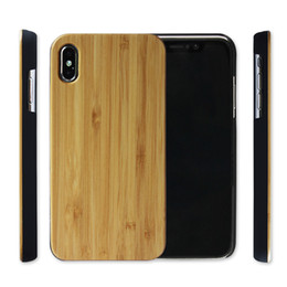 Nature Iphone Australia - For Iphone XS XR XS MAX Wood Case Mobile Phone Cover Nature Wooden Bamboo Cover For Samsung Galaxy Note9 Note8 S8 Wood Case Free DHL