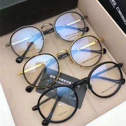 a3bcff32a1 2018 Luxury Titanium Alloy Optical Sunglasses Men Women Eleglant Myopia  Sunglasses Classic Big Frame Reading Eyewear Round Glasses With Box
