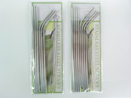China Stainless Steel Straws 8+2 Straight Curved Drinking Straw and Brush Set For Mugs Stainless Steel Straws Bar Bent Curved Drinking Straws cheap stainless steel cocktail straws suppliers