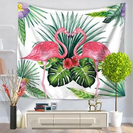 new bedding styles 2019 - High quality 2018 new flamingo wall tapestry multifunction printing tablecloth bed sheet nice beach towel 6 style free s