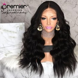 $enCountryForm.capitalKeyWord Australia - PREMIER High Density 360 Lace Frontal Wigs Indian Remy Hair Body Wave Pre-plucked Bleached Knots Deep Lace Parting Human Lace Wigs