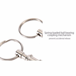 padlock ring 2019 - Hot 2pcs Outdoor Tactical Backpack EDC Key Ring Carabiner Climbing Letters Double Key Ring Padlock Keychain