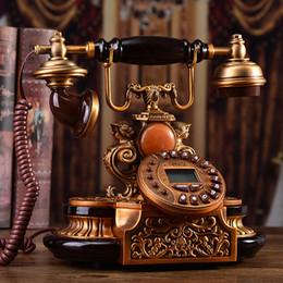 EuropEan tElEphonE antiquE online shopping - Muyu Villa European antique telephone metal high grade landline garden fashion creative retro telephone Louvre