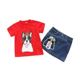 d617d72ab3d9 Puppy Clothes For Girls UK - Girls Puppy Clothes Sets Baby 2018 Two Pieces  Clothing Toddler
