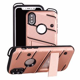 plastic clip for phone case 2019 - Premium Quality Hybrid Dual Layer Phone Cases With kickstand For iPhone X iPhone 8 7plus Samsung S8 s9 plus Note 8 Huawe