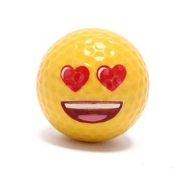 $enCountryForm.capitalKeyWord NZ - Golf Ball Emoji Funny Cute Golf Ball Accessory Gift Rubber Surlyn for Golfing Game Training Kids Golfers