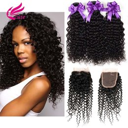 $enCountryForm.capitalKeyWord NZ - CUTE VIRGIN HAIR Brazilian Kinky Curly 8A Human Virgin Hair Bundles With Closure Weaving Unprocessed 4x4 Jerry Curly Lace Closure Cheap Deal