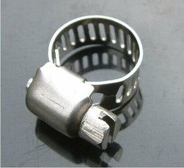 12mm pipe NZ - Wholesale Price, 5pcs lot, Stainless Steel Hose Buckle   Water Pipe Clamps   Clips Compatible with 8-12mm Tube
