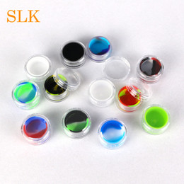 oil extractor wholesalers NZ - Half of ball rubber wax containers silicone dab jar vape holder hho oil extractor dry herb concentrate storage box 5ml