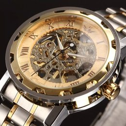 New Fashion Skeleton Black Steel Men Male Clock Shenhua Brand Hollow Cool Stylish Design Classic Mechanical Wrist Dress Watch Mechanical Watches