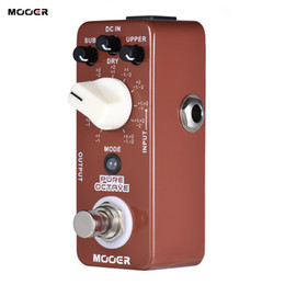 Mini guitar effects online shopping - MOOER PURE OCTAVE Mini Octave Guitar Effect Pedal Octave Modes True Bypass Full Metal Shell