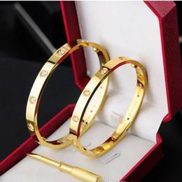 Опт Титановая Сталь Любовь браслет серебро розовое золото браслет браслеты женщины мужчины винт отвертки браслет пара ювелирных изделий с оригинальной сумкой