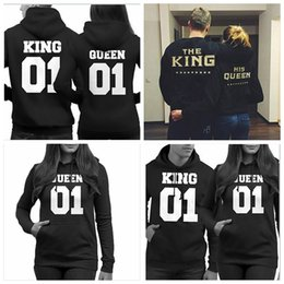 36035d2c14 Matching couples sweaters online shopping - New fashion lovers clothes  matching king queen fleece letter print