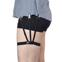 1 Par Camisa para Hombre Estancias Portaligas Sujetadores de Camisas Ajustables Camisa de Cinturón de Resistencia Tirantes para Hombres Abrazaderas de Bloqueo