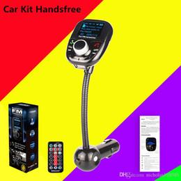 $enCountryForm.capitalKeyWord NZ - BT002 Bluetooth Car Kit FM Transmitter With Remote Control Wireless FM Modulator Car Kit HandsFree LCD Screen USB Charger PK T10 T11 BC06 G7