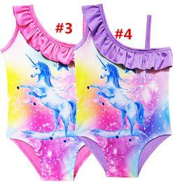 $enCountryForm.capitalKeyWord Canada - Unicorn Swimwear One Piece Summer Swimsuit Bikini Big Kids Summer Cartoon Infant Swim Bathing Suits Beachwear 7 design LC812-11