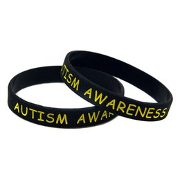 China Wholesale 100PCS Lot Autism Awareness Silicone Wristband Great For Daily Reminder By Wearing This Colourful Bracelet supplier wholesale jelly suppliers