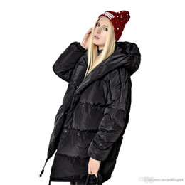 77f991fd78fca Winter Jackets Women 90% White Duck Down Parkas Loose Fit Plus Size Hooded  Coats Medium Long Warm Casual Pink Snow Outwear NG-001