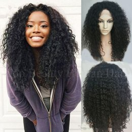 $enCountryForm.capitalKeyWord Australia - High quality hair Silk Top Full Lace Wigs Curly Malaysian Afro Kinky Curly Lace Front Human Hair Wigs Silk Base With Baby Hair