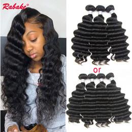Discount virgin hair dhl - Malaysian Remy Human Hair Bundles Loose Deep Wave Rabake Brazilian Unprocessed Virgin Remi Cuticle Aligned Curly Hair We