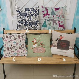 $enCountryForm.capitalKeyWord Australia - 2018 Linen cotton Merry Christmas printed simple pillow covers Christmas festival home decoration cushion cover 45*45cm #020