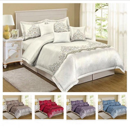 Lace duvet cover queen online shopping - Lace Flower Bedding Set European style Duvet Cover Set Luxury Classic Duvet Cover With Pillowcase Full Queen King Size