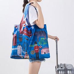 0b59cdb04 Bolsos de compras respetuosos del medio ambiente a prueba de agua del  recorrido bolso reutilizable personalizado Mujeres bolsa de tela del hombro  plegable ...