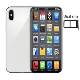 Mp3 digital player online shopping - 6 inch Andriod phone xs max GBRAM GBROM MTK6580 QuadCore MP G WCDMA Sealed Box Fake G displayed Dual SIM Card goophone