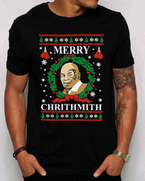 Best Christmas Gifts For Men Australia - Merry Chrithmith Ugly Christmas T-Shirt.Funny Mike Tyson Parody Best Gift Shirt T Shirt Plus Size Short Sleeve Custom Clothes For Men Hipste