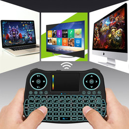 Discount wireless keyboards colors - Backlit 2.4GHz Wireless Keyboard Touchpad Mouse Handheld Remote Control 7 Colors Backlight Mini Keyboard for Android TV