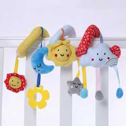 Chinese  Infant Toy Baby Crib Revolves Around Bed Spiral Stroller Playing Toy Car Lathe Hanging Baby Rattles Mobile Toys Bebe 0-12 months manufacturers