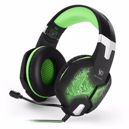 Pc Gamer Computers NZ - Computer Stereo Gaming Headphones Kotion EACH G100 Best casque Deep Bass Game Earphone Headset with Mic LED Light for PC Gamer