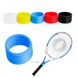 Tennis rackeT rubber online shopping - Tennis Racket Handle Rubber Ring Multi Color Environmental Sweatband Silicone Soft Rings For Protecting The Racquet Hot Sale bt Z