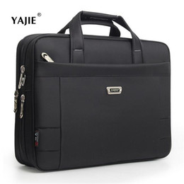 male laptop bags 2019 - YAJIE Fashion Business Men's Briefcase Casual 14-16 Inches Laptop Bag Male File Pocket Waterproof Travel Male Shoulder B