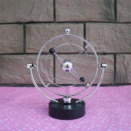Antique office desks online shopping - Kinetic Orbital Revolving Gadget Originality Perpetual Motion Instrument Desk Art Milky Way Toy Office Decor New Arrive hz Ww
