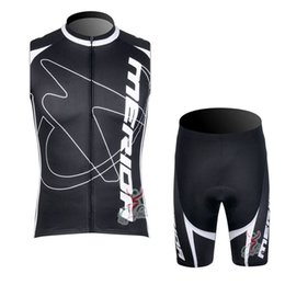 MERIDA team Cycling Sleeveless jersey Conjuntos de pantalones cortos sin tirantes Quick- Dry Transpirable Hot Sale manga de ciclismo set en venta