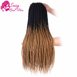 "twisted hair NZ - 5Packs 24"" Senegalese Twist Crochet Hair Braids Twist Crochet Braiding Hair Senegalese Twists Hairstyles For Black Women (Black Light Brown)"