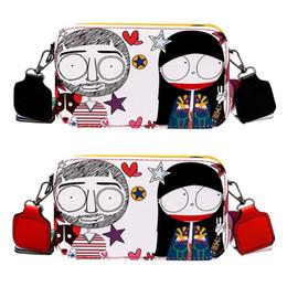 $enCountryForm.capitalKeyWord NZ - Street Style Graffiti PU Leather Crossbody Bags for Women Zipper Mini Teenager Girls Shoulder Messenger Bag Female Handbags