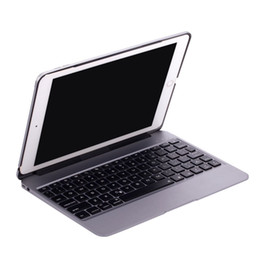 $enCountryForm.capitalKeyWord NZ - Pad Pro 9.7 Air2 Smart Cover Wireless Bluetooth 3.0 Keyboard Aluminum ABS 7 Colors Backlit C089 with 2800mAh Battery 4 Colors